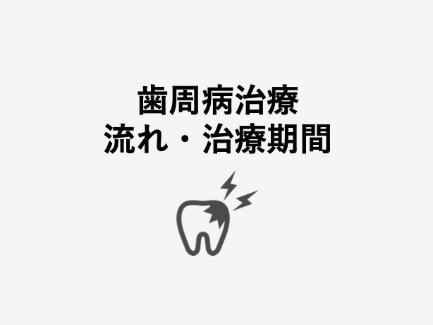 歯周病治療の流れ、治療期間